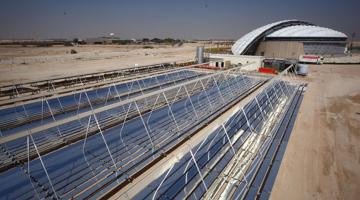 قطر استادیوم های فوتبال را با خورشید خنک می کند